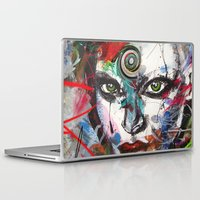 third eye Laptop & iPad Skins featuring third eye by yossikotler