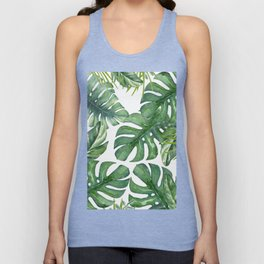 Monstera Leaves Unisex Tank Top