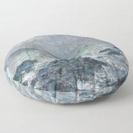 Fishing Nets at Pourville by Claude Monet Floor Pillow