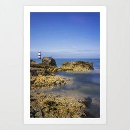 Trwyn Du Lighthouse Art Print