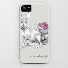 Tea with Hatter iPhone Case