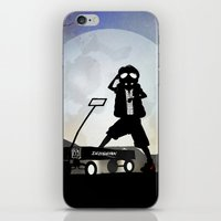 mcfly iPhone & iPod Skins featuring McFly Kid by Andy Fairhurst Art