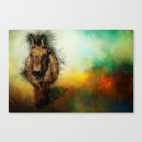 donkey Canvas Prints featuring Donkey by Ginkelmier