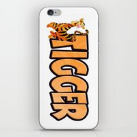 tigger iPhone & iPod Skins featuring Tigger by Mix-Master