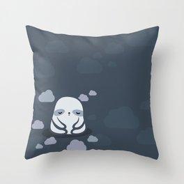 Sleepy sloth Throw Pillow