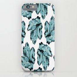 blue raspberry crystal cluster iPhone Case