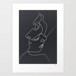 Superieur Close Noir Art Print