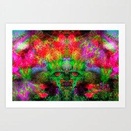 The Flower King Art Print