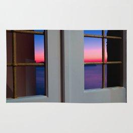Sunset through the door Rug