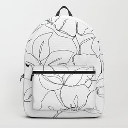 Floral one line drawing - Rose Backpack