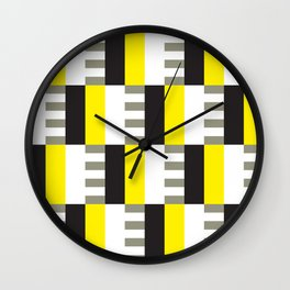 Geometric Pattern #38 (mid-century yellow) Wall Clock
