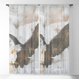 Voice of The Eagle Sheer Curtain