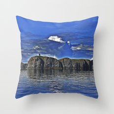 A Mysterious Island Awaits Those That Dare Throw Pillow