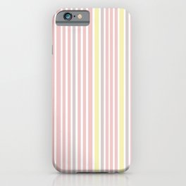Pink Stripes & Yellow iPhone Case