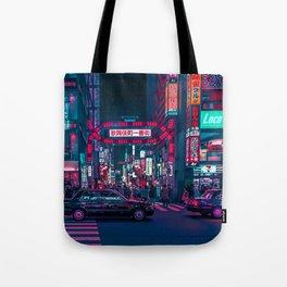 Cyberpunk Tokyo Street Tote Bag