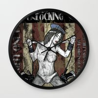 resident evil Wall Clocks featuring Jill Valentine The Master Of Unlocking Carnival Poster (Resident Evil) by cksgallery
