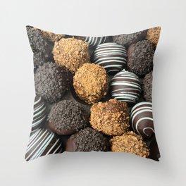 Truffle Chocoholic Fudge Mania Throw Pillow