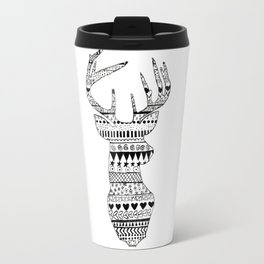 Patterned Deer Travel Mug