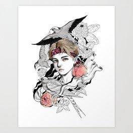 BTS V Art Print