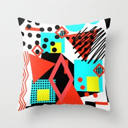 abstract multicolor shapes Throw Pillow