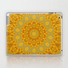 You Are My Sunshine II -- Sunflower Botanical Medallion, Mandala, Kaleidoscope Laptop & iPad Skin
