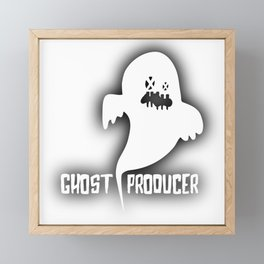 Ghost Techno Producer Framed Mini Art Print
