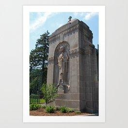 Calvary Cemetery Angel Art Print