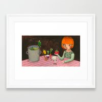 cooking Framed Art Prints featuring Cooking by Valeria Cis