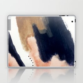 Drift Away [2] - a mixed media abstract piece in pink, brown, and purple Laptop & iPad Skin
