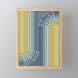 Gradient Curvature VIII Framed Mini Art Print