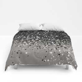 Silver Gray Glitter #1 #shiny #decor #art #society6 Comforters