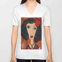 gypsy V-neck T-shirts featuring GYPSY by Knittingandthings