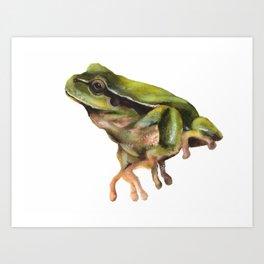 Groovy Green Art Print