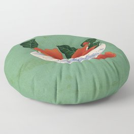 Minhwa: Camellia Bowl C Type Floor Pillow