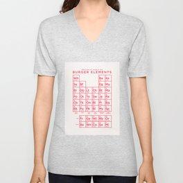 Periodic Table of Burger Elements - Ivory Unisex V-Neck