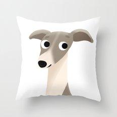 Greyhound - Cute Dog Series Throw Pillow