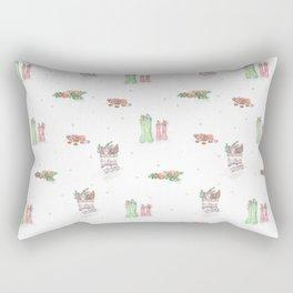 Christmas Boots Pattern Rectangular Pillow
