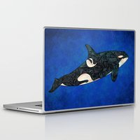 killer whale Laptop & iPad Skins featuring Killer Whale by Ben Geiger