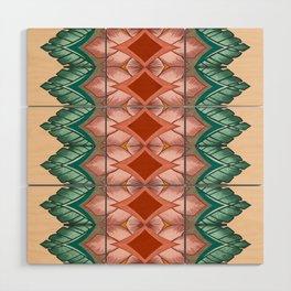 Diamond Leaves Pattern Wood Wall Art
