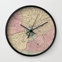 Vintage Map of Elizabeth New Jersey (1872) Wall Clock
