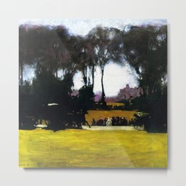 Central Park - New York City Landscape Painting by George Wesley Bellows Metal Print