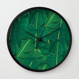 Banana Leaf Canopy Wall Clock