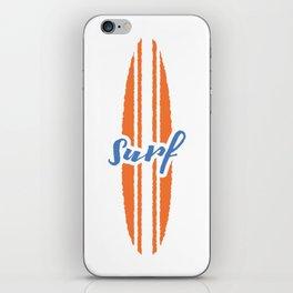 Surf T-Shirt iPhone Skin