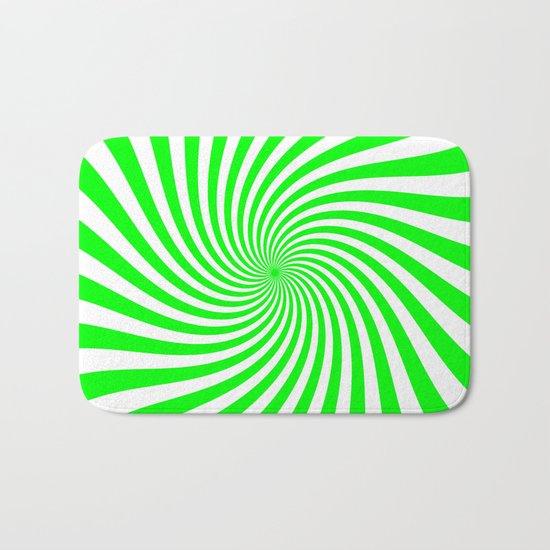 Swirl (Green/White) Bath Mat