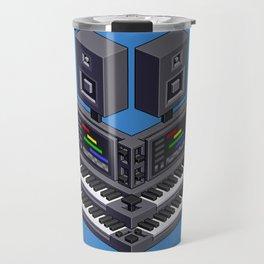 Electronic music altar — isometric pixel art Travel Mug