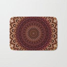 Mandala in brown and red tones Bath Mat