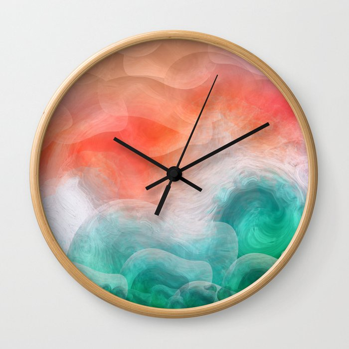 """""""Coral sand beach and tropical turquoise sea"""" Wall Clock"""