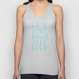 LOVE inifinite - BLUE Unisex Tank Top
