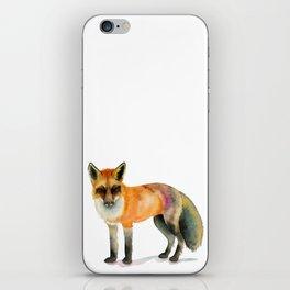Elegant Woodland Orange Fox Watercolor Painting iPhone Skin