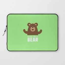 Brave like a Bear T-Shirt for all Ages Drjli Laptop Sleeve